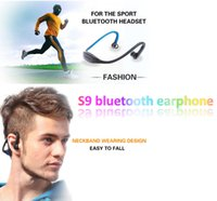 Wholesale Earphones S4 - S9 Wireless Bluetooth Headphone Stereo Headset Sports Speaker Neckband Earphones 4.0 With Retail Package For Samsung S4 Huawei Iphone