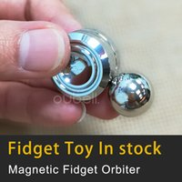 Wholesale Cheap Christmas Toys For Kids - Cheap Fidget desk toy Spinning Magnetic Orbiter Silvery Fidget Toy Christmas gift for kits and adults