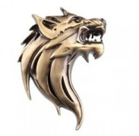 Wholesale Truck Emblems Wholesale - Personalized Sticker Auto Car Truck Motor 3D Wolf Head Logo Sticker Prime Emblem Badge Car Stickers Metal Decal Adhesive Stickers