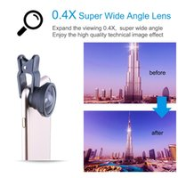 Wholesale Super Wide Lens Clip - New Universal Clip Super 0.4X Wide Angle Phone Camera Lens for iPhone 6 6 Plus for Samsung Xiaomi redmi HTC wide Lens