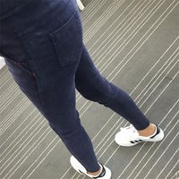 Wholesale Womens Skinny Ankle Jeans - Wholesale- Autumn New Korean Fall Womens Scratch Silm Skinny Jeans Leggings Pencil Pants Elastic Denim Leggings Jeans Women