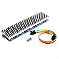 Wholesale Dot Matrix Arduino - Free Shipping! Wholesale 1 Piece MAX7219 Dot Matrix Module For Arduino Microcontroller 4 In One Display with 5P Line