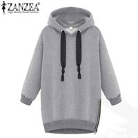 Winter Herbst 2017 Zanzea Mode Frauen Langarm Kapuzenjacke Loose Warm Hoodies Solid Sweatshirt Plus Size 3 Farben