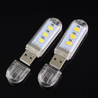 led usb lamp mobile charger prices - Wholesale- 10PCS LOT Mini USB Gadget 5730SMD Led Lamp 3Leds USB Lights Lighting For PC Laptop Computer Notebook Mobile Power Charger