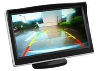pantalla de video del coche al por mayor-Pantalla TFT LCD de 5 pulgadas Monitor de automóvil PZ706 Entrada de video de 2 vías DC12V 24V Mostrar automáticamente cuando se invierte