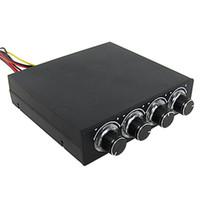 разъем контроллера оптовых-CAA горячий 4-канальный 4-контактный разъем синий светодиодный контроллер вентилятора ПК