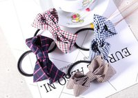 Wholesale Order Head Bands - Brand new Romantic bowknot knot head rubber band hair rope FQ009 mix order 100 pieces a lot