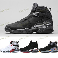 Wholesale Cheap Glitter Boots - Cheap Retro 8 XIII Basketball Shoes 2016 New Men Boots High Quality Black Grey Sneakers Retros 8 Sports Shoes Free Drop Shipping 41-47
