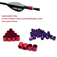 Wholesale Carbon Arrow Shafts Wholesale - Arrow Nock Collars Red&Purple Colors Arrow Shaft Suitable for O.D 7.3-7.5mm Carbon&Fibrglass Shaft