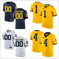 Wholesale College Football Jerseys Michigan - Custom 2017 Michigan Wolverines College Football Limited white navy gold gray Personalized Stitched Any Name Number 2 5 10 21 Jerseys S-3XL
