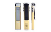 Wholesale Mp3 Player Mini Clip 4gb - Wholesale- F1 8GB Brand Spy Mini Clip USB Flash Digital VOR Audio Voice Recorder Dictaphone MP3 Player Pen Drive Grabadora Gravador golden