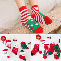 Wholesale sweat winter children - Child Sock Stripe Cotton Autumn Winter Cartoon Anklets Breathable Sweat Uptake Christmas Socks For Girl And Boy 2 5bd B R