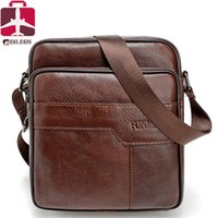 Wholesale Work Saddle - Wholesale-2016 Men bag genuine leather men casual briefcase business vintage luxury men messenger bags designer work shoulder bag small