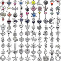 Wholesale Lockets Wholesalers - 400 Designs for your choose - Locket Cages Love Wish Pearl  Gem beads oyster Pearl Mountings - Pearl Cage - WITHOUT Akoya Oyster