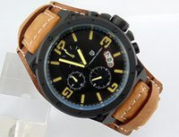 Wholesale Low Price Chronograph Watches - 1626 Day&Date 50mm Big PVD Case Chronograph Yellow mark Quartz Men's Wristwatch Low price and good quality Watch