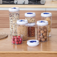 Wholesale Wholesale Large Glass Jars - 3Pcs Kitchen Mixed Grains Containers Air Proof Plastic Keep Food Fresh Storage Containers Dampproof Box Large Capacity Transparent Jar