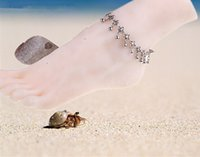 Wholesale Fashion Jewellery Anklets - Foot bracelets fashion flower charms for jewellery anklets For Women Girl Foot Bracelets Fashion Jewelry 1051HYFX