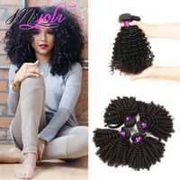 Wholesale Queen Virgin Brazilian Hair Curly - kinky curly weave Brazilian human hair unprocessed virgin hair extension three bundles 3pics lot queen hair double weft from msjoli