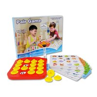 Wholesale Wholesale Brain Training Toys - Wholesale- Children Memory Matching Game Pairs Game Educational Toys Baby Brain Training Montessori Interactive Desk Toys Christmas Gifts