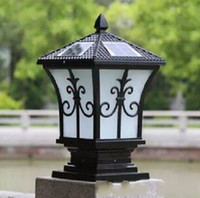 Wholesale Outdoor Post Home Lighting - Solar power led post lights super bright outdoor waterproof garden lights LED solar lights home post lamps outdoor villa deck yark MYY