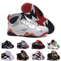 Wholesale Turquoise Lace Fabric - [With Box]VII 7 Retro Shoes Retro 7 VII WHITE TURQUOISE BLACK ICE BLUE Basketball Shoes Cheap Sports Boots Athletics Sneakers Men Trainers