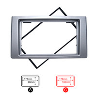 LEEWA Auto 2DIN CD DVD Radio Fascia Rahmen für Iveco 2009 + Dash Mount Kit Adapter Trim Armaturenbrett Panel # 5265