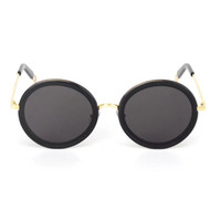 Wholesale Whip Women - Women Round Sunglasses THE WHIP O34 GOLD UV Protection men Designer Sunglasses Brand New with Box