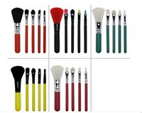 Wholesale Mini Shadow Brush - 2017 New Mini Makeup Brush sets 5pcs set Make UP Brushes kit 5 Colors Use Blusher Eye Shadow Eyeliner Factory Make Hiqh Quality DHL Shipping