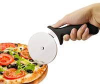 cuchillo para moldear pasteles al por mayor-1 UNID Nuevo Cortador de Pizza de Acero Inoxidable Forma Redonda Pizza Ruedas Cortadores Pastel de Pan Cuchillo Cortador Cuchillo Redondo Herramientas de Pizza LB 056