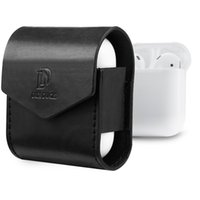 Wholesale Leather Earphone Cases - Luxury Bag for AirPods Earphone Charger Case Premium Microfiber Leather Protective Cover Pouch Anti PU Protector With Retail Packing