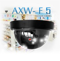 Wholesale Camera Led Light Free Shipping - Dummy CCTV Camera Fake Simulation Dome Camera Surveillance Cameras false hemisphere AXW-F5 camera with Red LED lights DHL free shipping