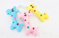 Wholesale Happy Birthday Videos - 40pcs lot Kawaii Cute Gift Plush Giraffe Soft Toy Animal Dear Doll Baby Kid Child Girls Christmas Birthday Happy Colorful Gifts