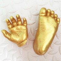 Wholesale Amp Feet - 3D DIY Plaster Casting Handprints Footprints Baby Gifts Keepsakes Hands Amp Foot Mini Kit Kids Gifts