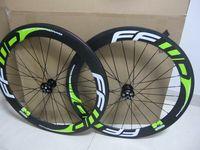 Wholesale Road Bike Race Wheels - FFWD Disc Brake 700c carbon fiber road bike racing wheelset 60mm clincher bicycle wheels free shipping
