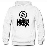 linkin park suéter venda por atacado-Frete grátis linkin park logotipo impresso pullover hoodies unissex hoodies hoodin para a primavera / outono / inverno moletom com capuz de lã 5 cores