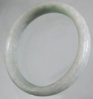 piedra gris al por mayor-2017 China Guizhou Luz gris jade verde piedra Brazaletes de la joyería de moda brazaletes de jade ENVÍO GRATIS