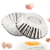 Wholesale Shaped Cake Tins - Egg Tart Mold Chrysanthemum Shape Pie Chips Jelly Molde Flat Bottom Cake Cupcake Cookie Molds Tin Baking Tool 0 2jc F R
