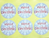Wholesale Sticker For Handmade Products - Wholesale- (100pcs lot) Grey Merry Christmas Snowflake Sticker Adhesive Label For Handmade Products and Gift Packaging Seals Stickers 3x3cm