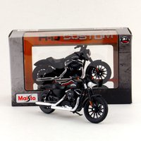 Wholesale Diecast Motorcycle Toy - Free Shipping Maisto 1:18 Motorcycle Harley-Davidson 2014 Sportster Iron 883 Diecast Toy Collection Educational Exquisite Gift