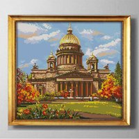 Wholesale diy garden tools for sale - Group buy Castle scenery WESTERN STYLE DIY Cross Stitch Embroidery kits Needlework Set diy garden painting counted print on canvas DMC CT CT DMC