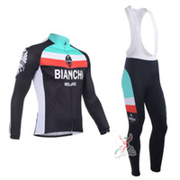 Wholesale Men Cycling Jersey Bianchi - New Bianchi Cycling Jersey Long Sleeve Racing Bike Cycling Clothing MTB Cycle Clothes Wear Ropa Ciclismo Sportswears For Men
