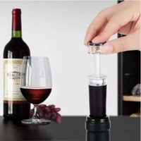 Wholesale Wine Stopper Vacuum Pump - Red Wine Champagne Bottle Preserver Air Pump Stopper Vacuum Sealed Saver Retain Freshness Stopper Sealer Plug Tools CCA6715 300pcs