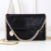 Wholesale 2017 Fashion Bag Women Black Gold Clutch Bags Handbags Women Famous Brands Clutch PU Leather Messenger Single Shoulder Bag Chains