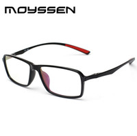 Atacado- Moyssen Nova chegada Men's Business Ultra-light TR90 Flexível Big Square Frame Eyeglasses Myopia Prescription Glasses Frames