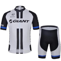 Wholesale Cheap Spandex Cycling Shorts - 2016 team giant cycling jersey men good quality short bicycle shirts and padded shorts High Quality Cycling Clothes Cheap Custom support