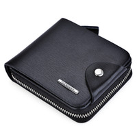 Wholesale Toothpick Korean - Toothpick Line Solid Color Letter Hasp Zipper Short Wallet Horizontal and Vertical Card Clutch Wallet Multifunctional Credit for Men +B