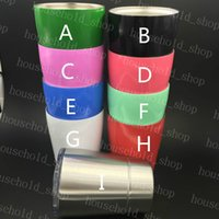 Wholesale Wine Mugs Stemless Tumbler Wine Glass oz Cups for Kids colors with Straw Lid Stainless Steel Drinkware Insulated Mug Hot Sale