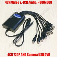 Wholesale Camera Input Mobile - Wholesale- 4CH AHD Video 4CH Audio Input Mini USB AHD DVR 800x600 Mobile Video Capture Card 4 Channel HD Analog Camera DVR for 720P 1MP