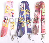 Wholesale Design Mobile Phone Charm - Sell !ailor Moon warrior design series mobile Phone lanyard Keychain straps charms three colors.Free shipping