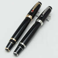 Wholesale Roller Metal - Classique black resin Rollerball bohemee Bleu Roller ball PEN MB,Luxury PENS with MB white star inlay serial number